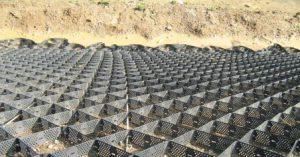 Geozellen für Erosionsschutz
